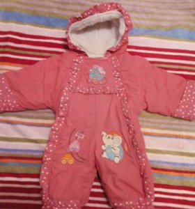 Комплект зимней одежды для девочки до 1,5 лет