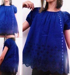 Новая французская синяя футболка