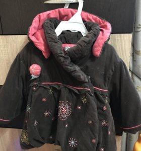 Комплект: пальтишко и платье