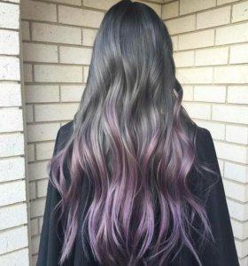 Оттеночный шампунь kapous life color фиолетовый