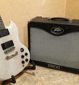 Гитара Gibson SG и ламповый комбо Peavey Classic