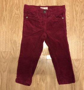 Вельветовые джинсы для девочки 80 см