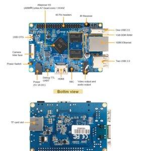 Одноплатный компьютер orange pi pc