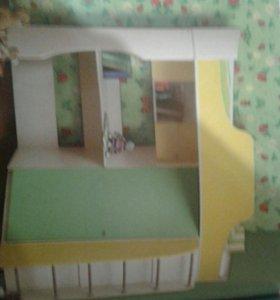 Кровать детская,комбинированная
