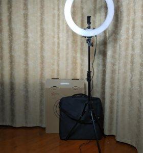 Кольцевая лампа 49см+доставка