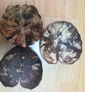 Мыльницы из кокоса