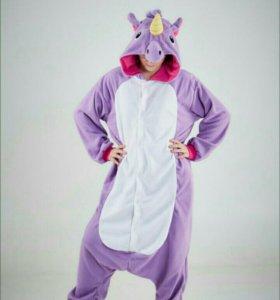 Пижама костюм Кигуруми Фиолетовый единорог