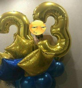 Гелиевые и фольгированные шары