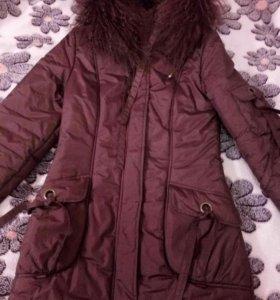 Пальто 42-44 зимнее на синтепоне
