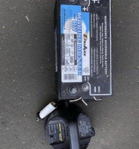 Аккумулятор, зарядка от лодочного мотора Minn Kota