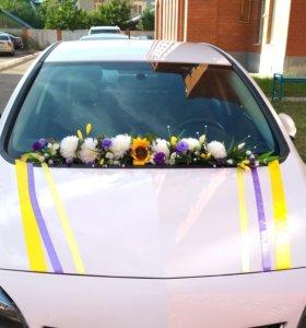 Украшение для машины (на свадьбу)