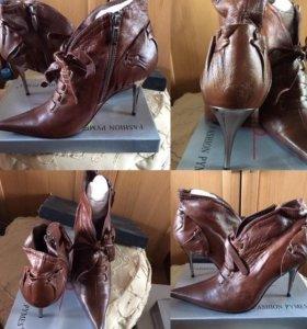 ботиночки новые из натуральной кожи