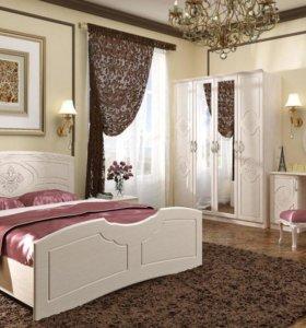 Спальня белый лен