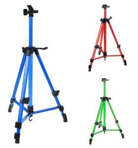 Мольберт телескопический (тренога) металл цветной