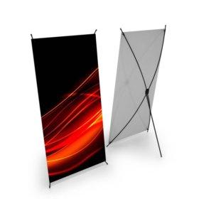 Мобильный Х- стенд для баннеров 1,6х0,6м