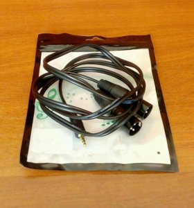 Стерео кабель XLR на 3.5 джек 1.5м