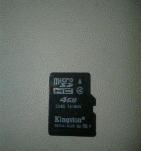 Флешка микроSD 4 ГБ
