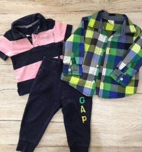 Вещи для мальчика пакетом Gymboree, Gap