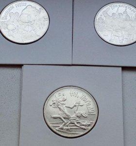 Три Богатыря, Винни Пух, Ну Погоди. 3 монеты.