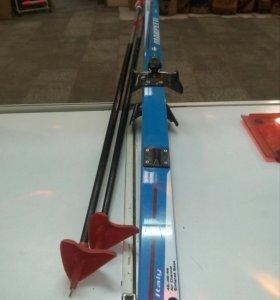 Лыжи с палками 170 см