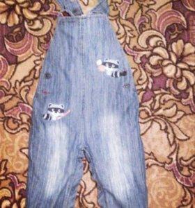 Полукомбенизон джинсовый
