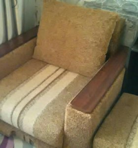 Кресло кровать с пуфом