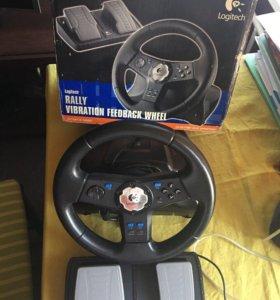 Руль Logitech для PS2 с полной комплектацией