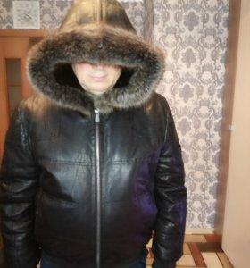 Куртка кожаная на меху