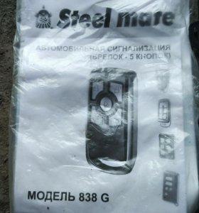 Сигнализация steel mate 838g новая