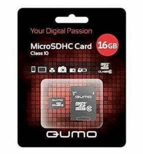 НОВЫЕ карты памяти MicroSDHC 16Gb Qumo Class10