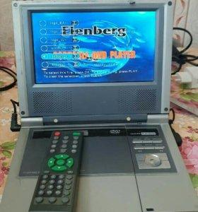 Портативный DVD-плеер с TV, Elenberg DVDP-3030 MP3