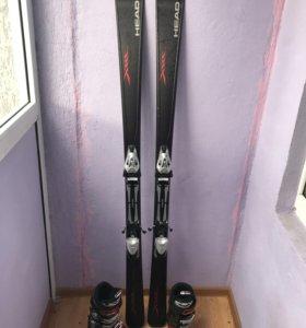 Горные лыжи Head 175 и ботинки Atomic (41р)