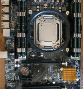 Мат плат 2011 Новая +проц 16 Ядер Intel 2680 +16GB