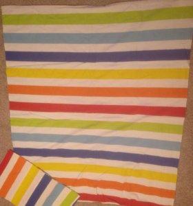 Детское:Плед+комплект постельного+подушка