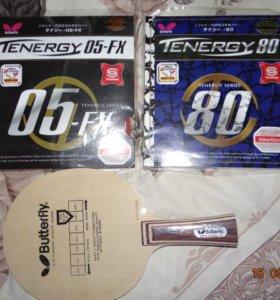 Новая супер-ракетка BUTTERFLY TENERGY 05-FX и 80