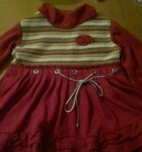 детское теплое платье