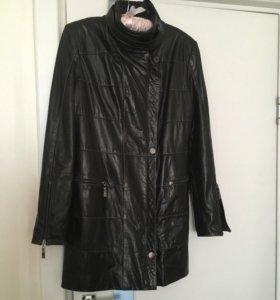 Натуральная кожаная куртка (удлинённая)