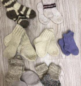 Вязаные носки 11 пар, 20-27 размера