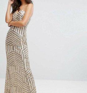 Золотое платье в прокат