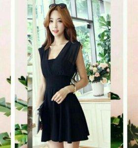 Чёрное короткое платье for lady