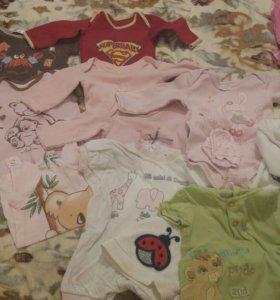 Одежда на малыша пакетом.от 0-3