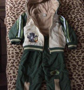 Детский костюм ( осень,весна) на рост 80см.