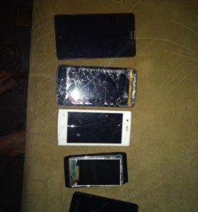 Телефоны на запчасти или под восстановление