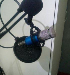 Студийный микрофон bm 800 + стойка