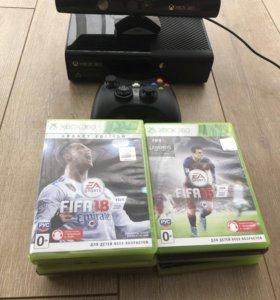 Xbox 360+Kinect+джойстик+9 игр