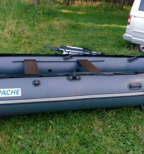 Лодка apache 3700 + мотор 4х меркури 6