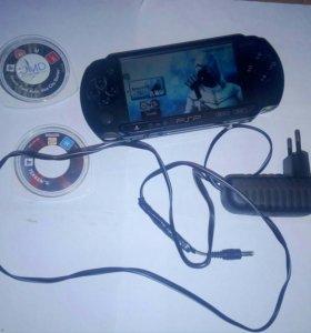 Sony psp e1004 + 7-игр (обмен)
