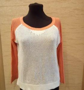 Вязаный свитер 164 р-р. ( см замеры)
