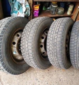 Комплект зимних колёс на логан, ларгус, сандеро