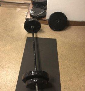 Штанга с блинами 100 кг